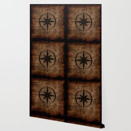 Nostalgic Old Compass Rose Wallpaper