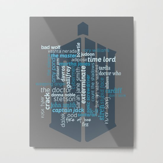Doctor Who: Friends and Enemies Metal Print