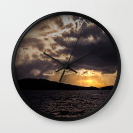 Dramatic change in the weather #decor #society6 #buyart Wall Clock