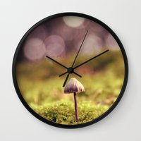 mushroom Wall Clocks featuring mushroom by anitaa