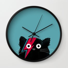 Cat Bowie Wall Clock