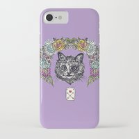 cheshire iPhone & iPod Cases featuring Cheshire by minniemorrisart
