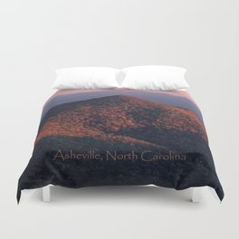 Pilot Mountain from the Blue Ridge Parkway Duvet Cover