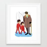 wes anderson Framed Art Prints featuring let's shag ass (wes anderson) by Lindsay Pak