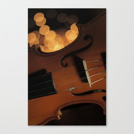 Violin Amidst the Twinkles Canvas Print