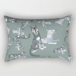 Totem Canadian wolf 2 Rectangular Pillow