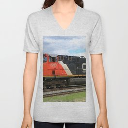 Canadian National Railway Unisex V-Neck