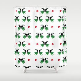 """Collection """"Love Birds"""" impression """"Tropico Forest"""" Shower Curtain"""
