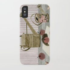 Watering Cans and Apples iPhone X Slim Case