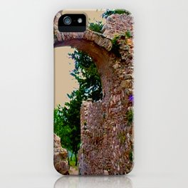 secret garden behind byzantine ruins iPhone Case