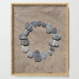 Circle Made Of Pebble Serving Tray