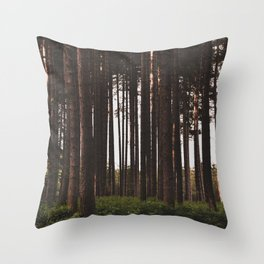Moody Forest - Landscape and Nature Photography Throw Pillow