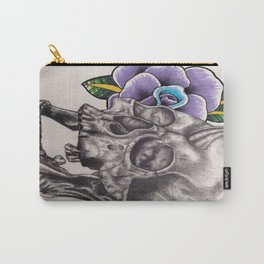Skull and Rose Carry-All Pouch
