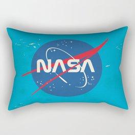 Enlist to become an Astronaut! Vintage nasa poster Rectangular Pillow