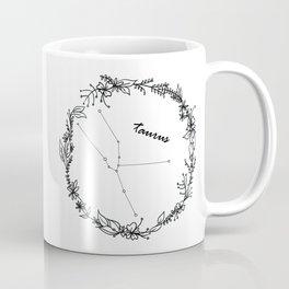 Floral Taurus Constellation Coffee Mug