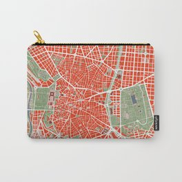 Madrid city map classic Carry-All Pouch
