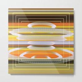 Saucer Shapes Metal Print