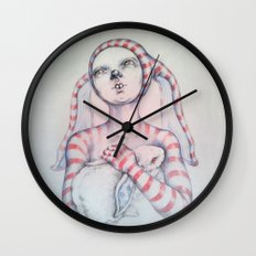 The Bunny rabbit Wall Clock