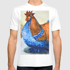 Rooster Mens Fitted Tee White MEDIUM