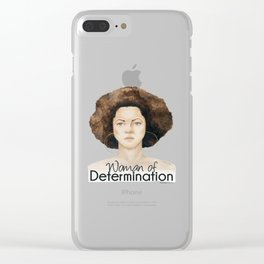 Woman of Determination Clear iPhone Case