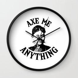 Lizzie Borden - True Crime Joke Wall Clock