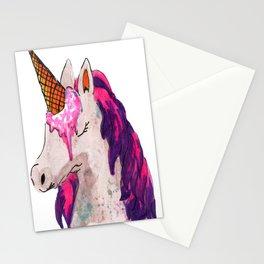 unicorn ice cream Stationery Cards