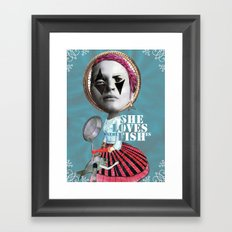 she loves the fishes Framed Art Print