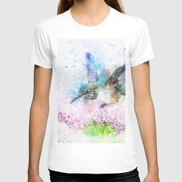 kingfisher Bird Animal Flowers T-shirt