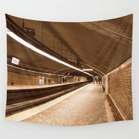 subway Wall Tapestries featuring Montreal - Subway by Doug Dugas