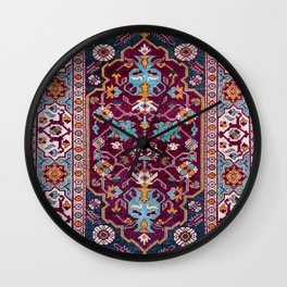 Romanian  Antique  Double Niche Carpet Print Wall Clock