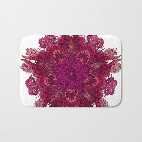 Pink Indian Mandala Bath Mat