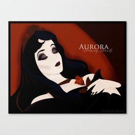 Sleeping Beauty: Aurora Canvas Print