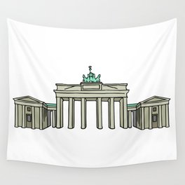 Brandenburg Gate in Berlin Wall Tapestry