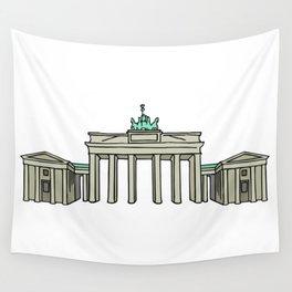 Brandenburg Gate in Berlin Wall Tapestry