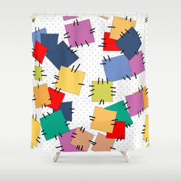Multi-colored flaps Shower Curtain