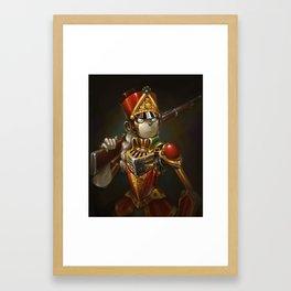 Steampunk Robot Portrait Framed Art Print