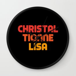 Christal Tionne Lisa Wall Clock