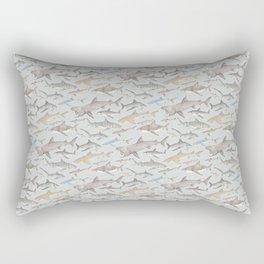 Watercolour shark pattern on pale blue Rectangular Pillow