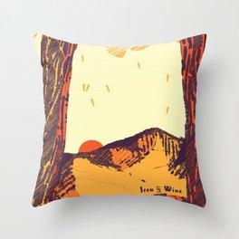 Upward over the Mountain: Sunset Throw Pillow