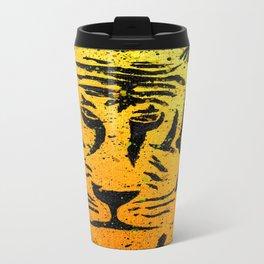Graffiti Tiger Metal Travel Mug