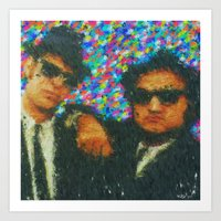 blues brothers Art Prints featuring Blues Brothers by Kevin Rogerson
