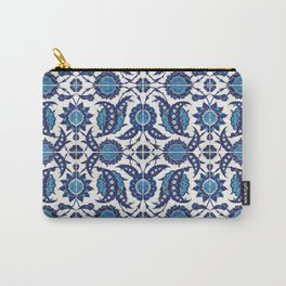 Iznik Pattern Blue and White Carry-All Pouch