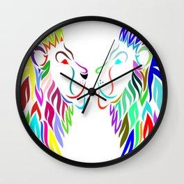 king lion portrait Wall Clock