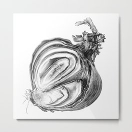 Withered Onion Metal Print
