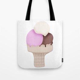 Neapolitan Ice Cream Cone Tote Bag