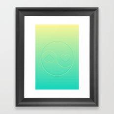 Pastel Ying Yang Framed Art Print