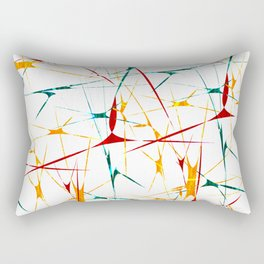 Colorful Splatter Abstract Shapes Rectangular Pillow