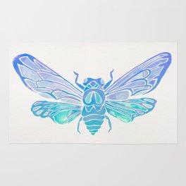 Summer Cicada – Blue Ombré Palette Rug