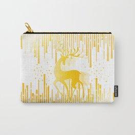 Dancing Deer  - Golden Carry-All Pouch