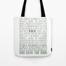 The Riot Act Tote Bag